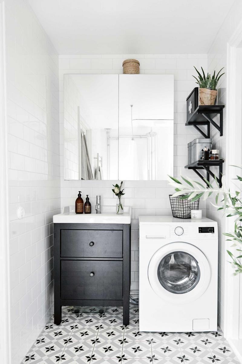 Black White Laundry Design (small spaces) | photocredit: Alvhem ...