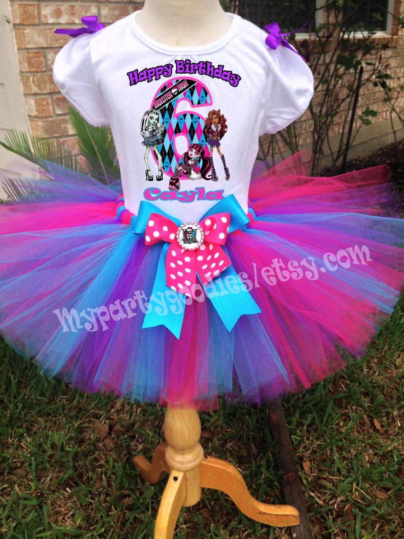 Monster High Tutu Set Monster High Birthday Outfit Monster High Tutu Monster High Shirt Monster High Birthday Party Monster High Birthday Birthday Tutu