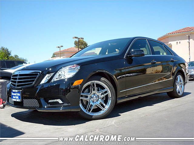 Mercedes benz e class chrome 2011 2013 18 inch e350 e550 for Chrome rims for mercedes benz