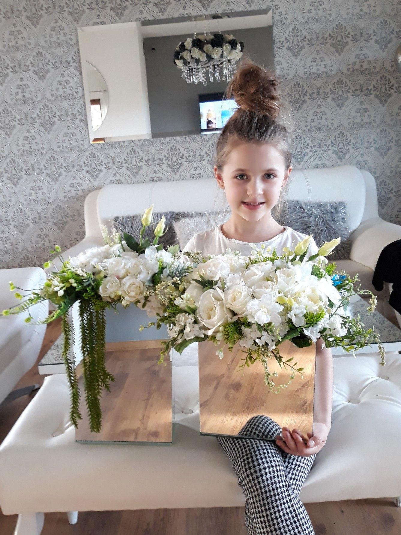 Kompozycja Kwiatowa W Stylu Glamour Flower Girl Dresses Flower Boxes Flower Girl
