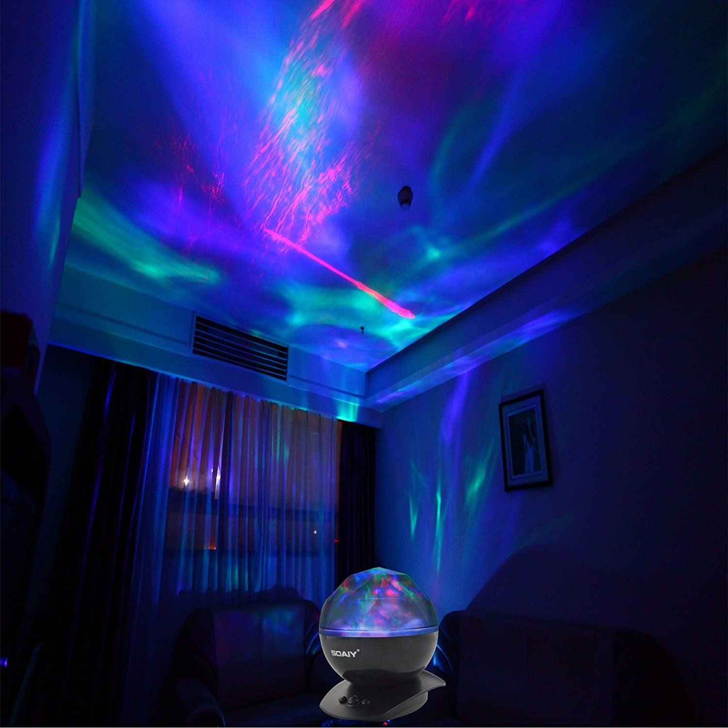 Soaiy Color Changing Led Night Light Lamp Realistic Aurora Star Borealis Projector Perfect For Children And S As Sleep Aid Decorative