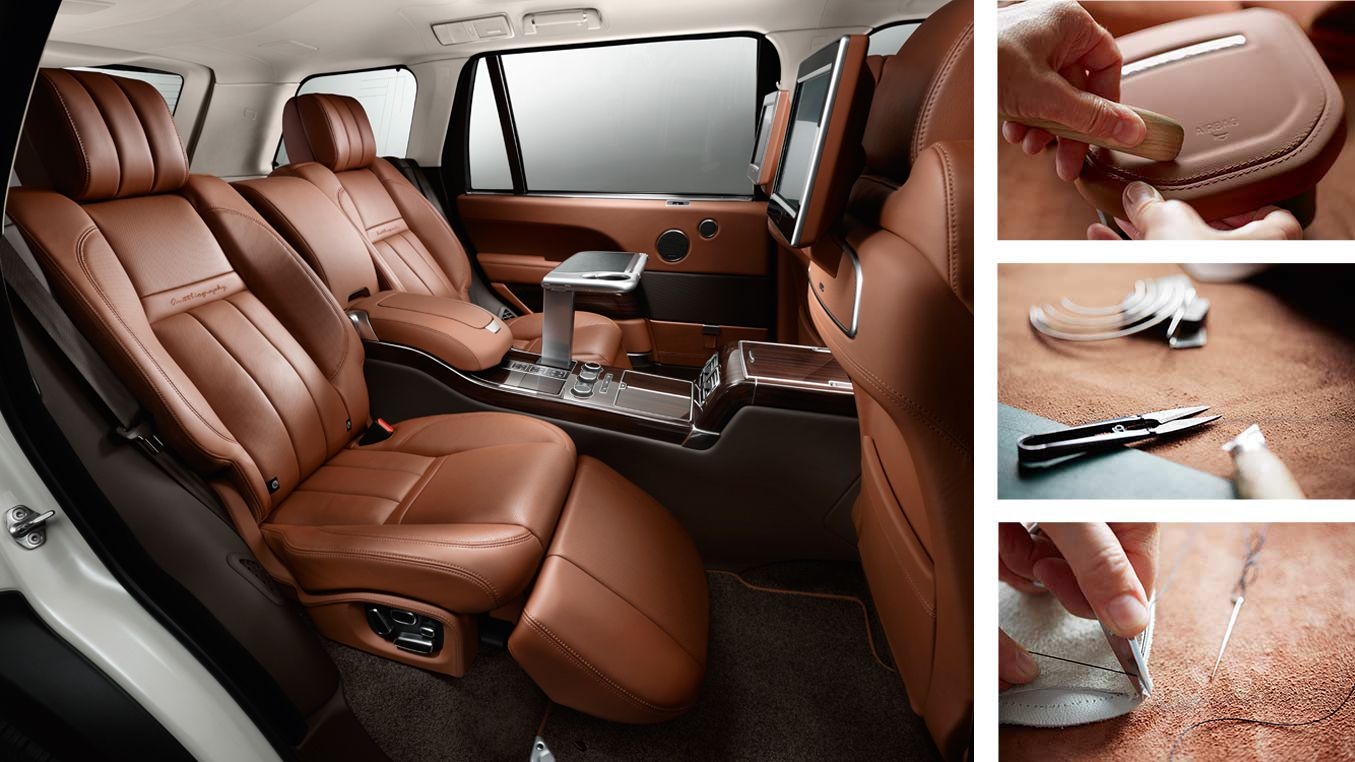Land Rover Range Rover has a reclining seat and a food