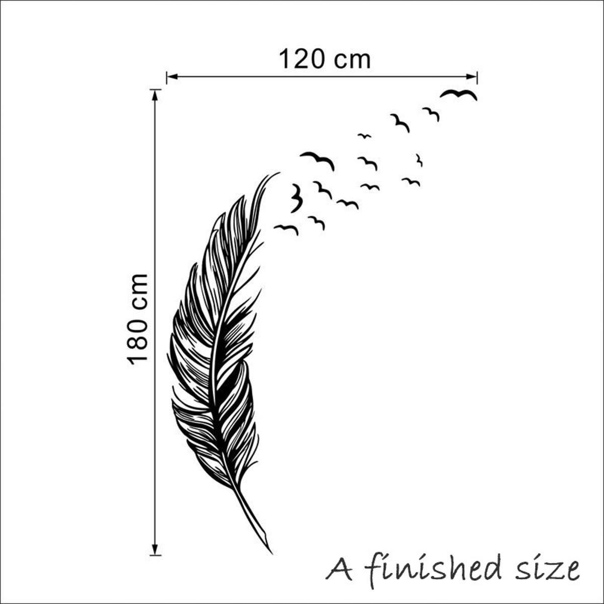 Feather Bird Flying Decal Autocollant