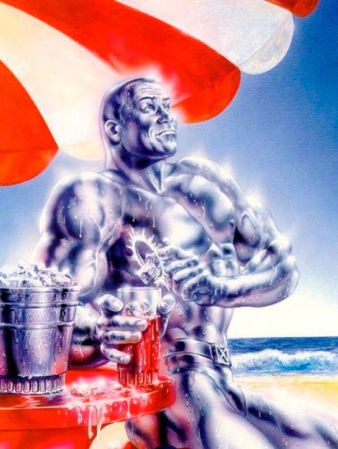 Fleer Ultra X-Men - Iceman at the beach