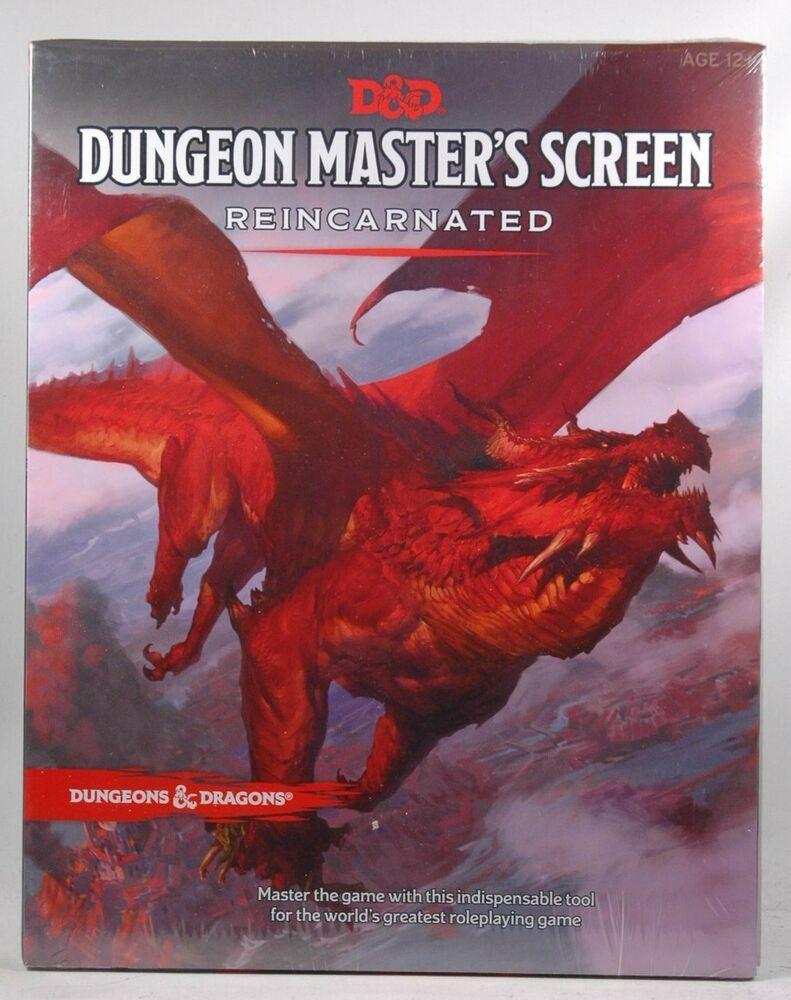 Dungeon Master's Screen Reincarnated Wizards RPG Team D&D 5e