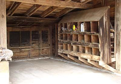 Enon hall february 2005 old house restoration journal for Large chicken coop ideas