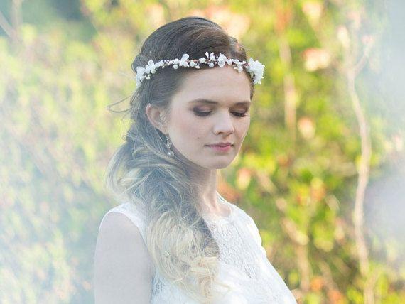 Perle Blume Krone Krone Braut Blume Wedding von MaijasWeddingBliss