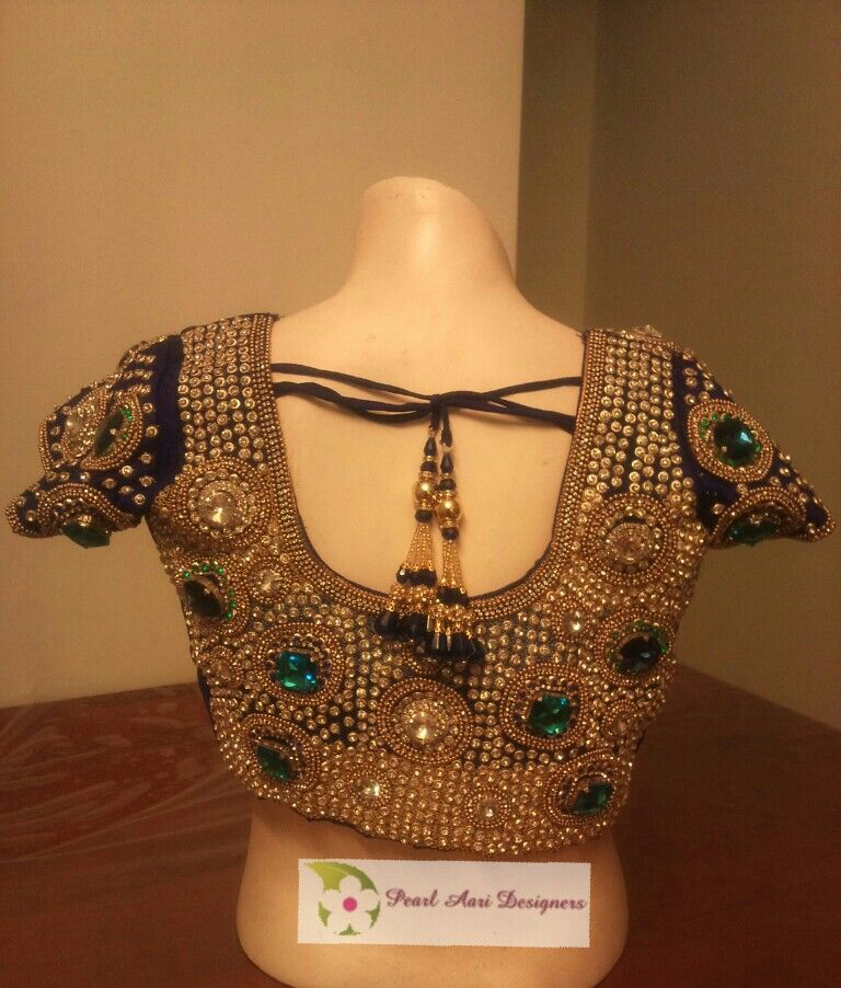 c12ef3fe52 Heavy full stone work bridal blouse Wedding Saree Blouse, Sari Blouse,  Bridal Blouse Designs