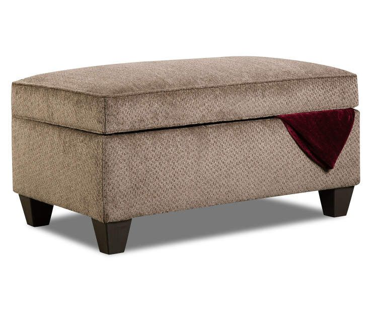 Lane Home Solutions Bellamy Taupe Storage Ottoman Big Lots Storage Ottoman Ottoman Living Room Collections