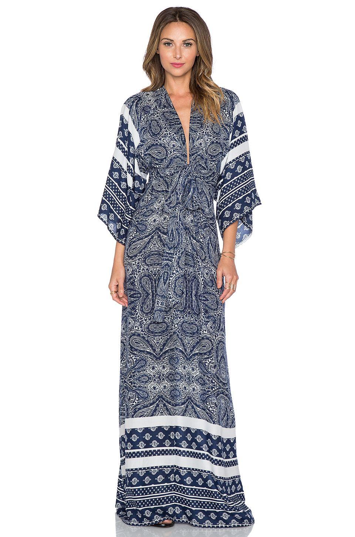 Tularosa X Revolve Rosella Maxi Dress In Blue Paisley At Revolveclothing Maxi Dress Cutout Maxi Dress Viscose Maxi Dress [ 1450 x 960 Pixel ]
