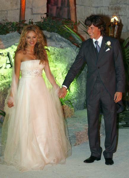 paulina rubio y colate | celebracion casamiento | famous wedding