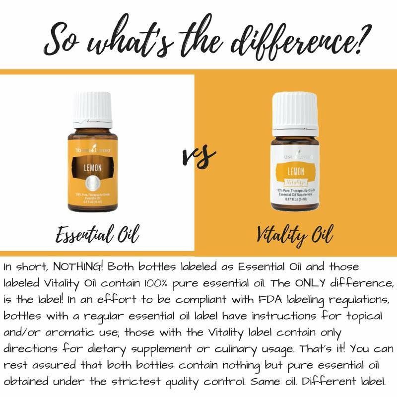 Difference In Young Living S Vitality Oil White Label