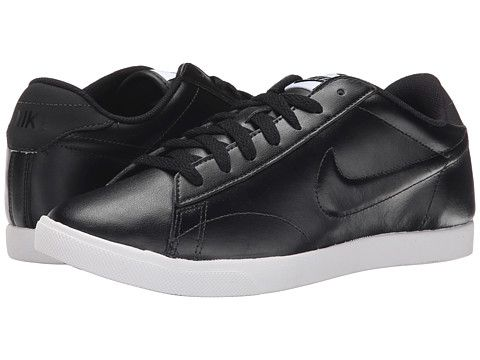 Womens Shoes Nike Racquette Leather Black/White/Black 2