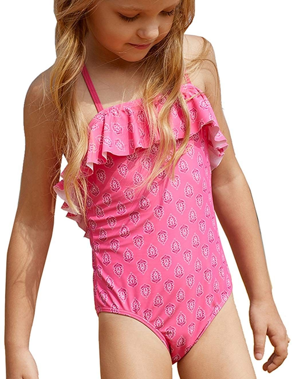 c43db38a331 Little Girls' Ruffle One Piece Swimsuit Crisscross Back Swimwear Size 4-8 -  CX18NARQ3XH - Girls' Clothing, Swim, One-Pieces #OnePieces #Girls' #Clothing  ...