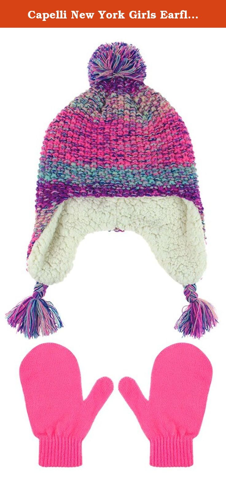 f1f9267c012 Capelli New York Girls Earflap Hat With Faux Berber Lining and Mittens Set  Pink Combo 2-4T. Stay warm this winter in our large selection of Capelli New  York ...