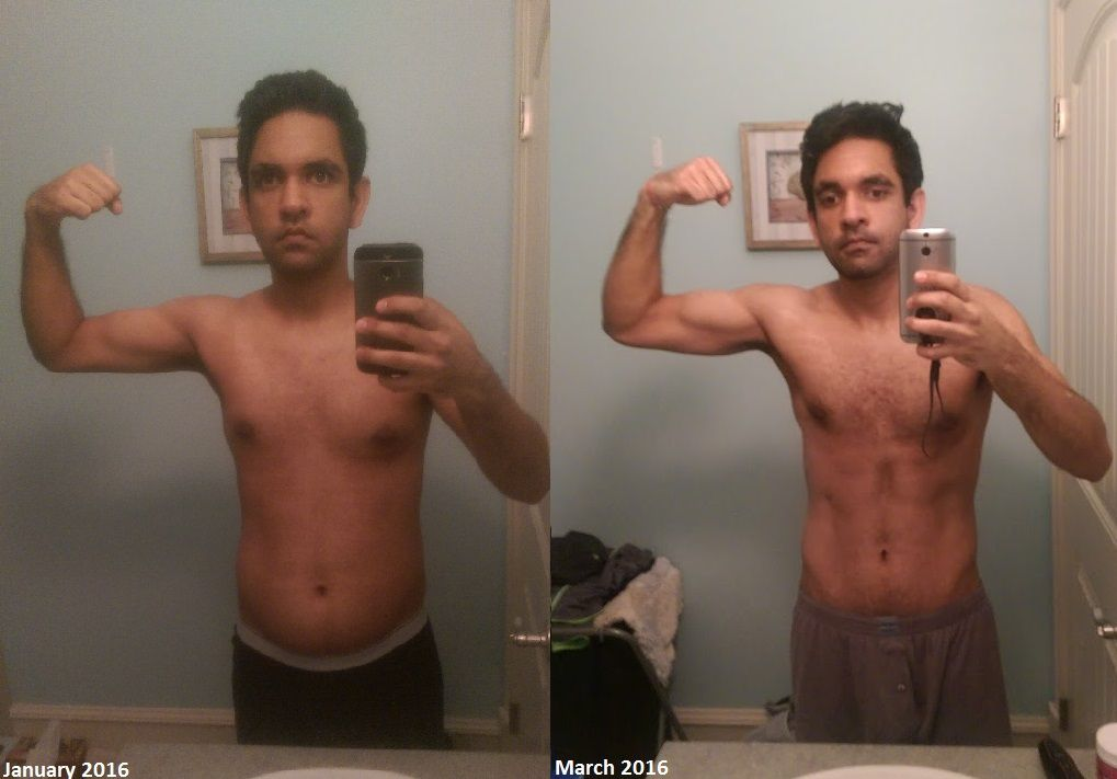 """M/24/5'11"""" [175 lbs 20% bf > 155 lbs 15% BF] (2.5 months)"""