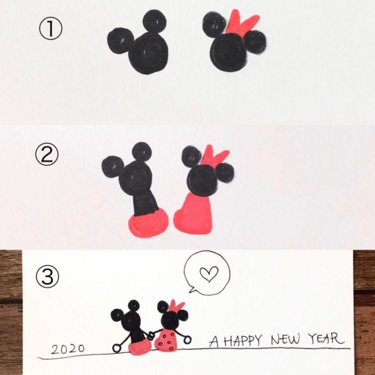 年干支ねずみ年 おしゃれなネズミの手書きイラスト 年賀状の簡単アイデア40作品 白黒ペン 筆ペン 子供向けの簡単イラスト などなど 手作り年賀状の作り方 イラストアイデア多数あり 雪見日和 年賀状 クリスマスカード 手作り 年賀状 デザイン