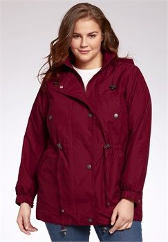 Jacket, anorak in weather-resistant Taslon® with zip-out lining