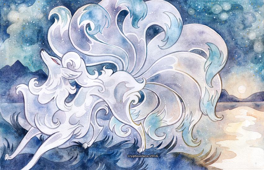 Shiny Ninetails print from CryptoStore