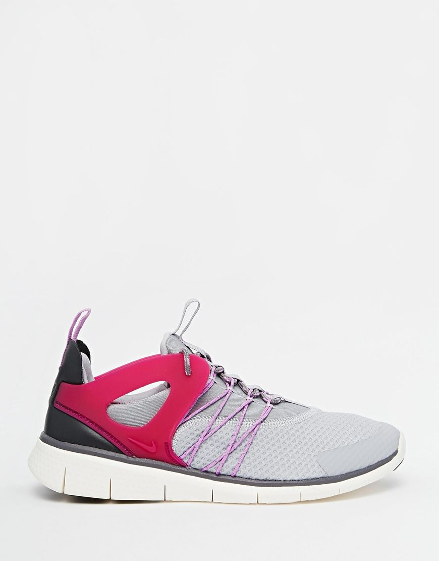 nike free virtuous grey pink trainers