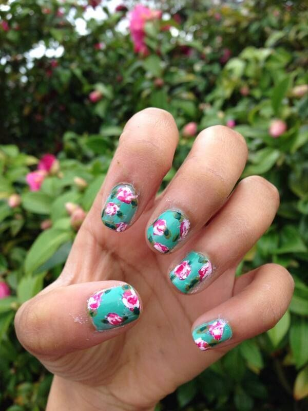 My nails are ready for spring! Show me your nail art below ...