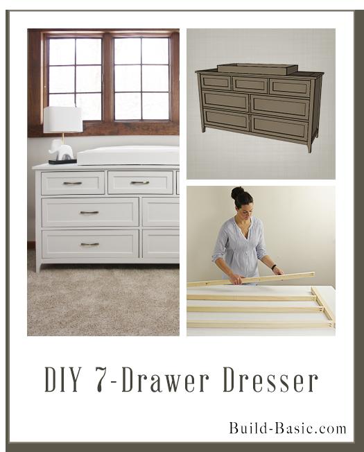 Build a DIY 7 Drawer Dresser – Building Plans by @BuildBasic www ...
