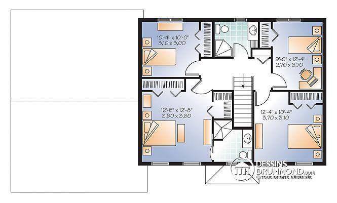 Étage Grande maison champêtre 4 chambres, bon prix, garage double