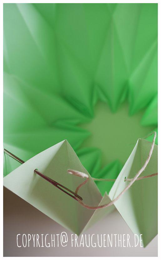 Diy Origami Papierlampe Origami Paper Lamp Lampe Aus Papier