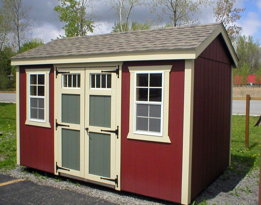 8x12 New England Style Shed Includes 6inch Taller Side