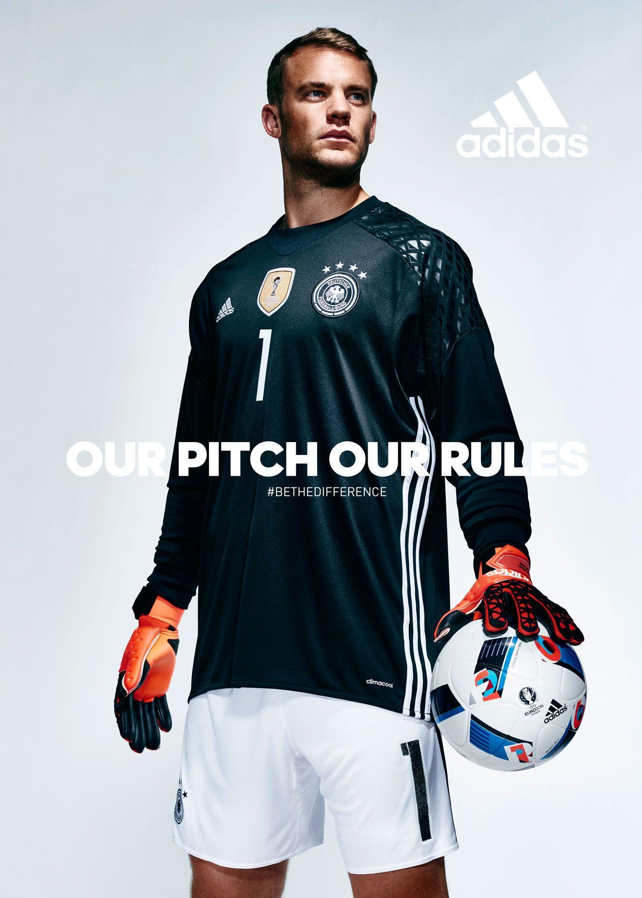 Adidas Manuel Neuer Our Pitch Our Rules Goleiro Esportes Futebol