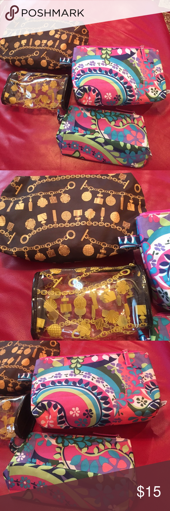 Two set cosmetics bag New two large and two small Estee Lauder Bags Cosmetic Bags & Cases