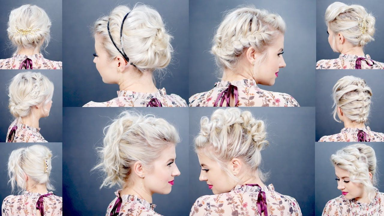 easy holiday updos for short hair milabu hair in