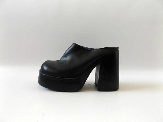 black platform clogs size 8 eur 39