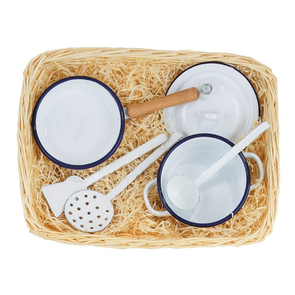enamelware cooking set for kids / from Smallable