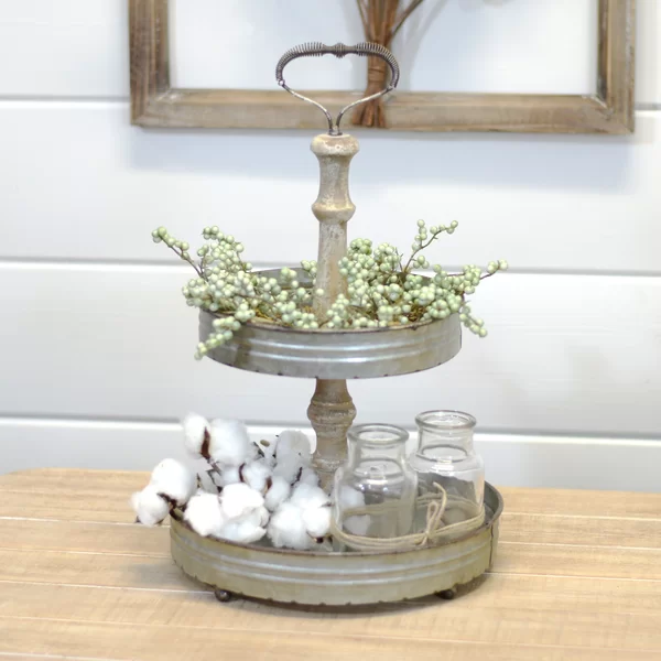 Southwold Tiered Stand Galvanized metal decor, Metal