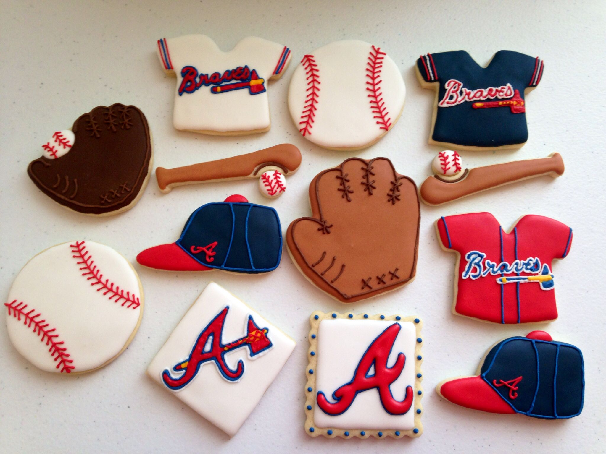 Atlanta Braves Baseball Cookies Baseball Braves Atlantabraves Busybeecakery Customcookies Atlanta Braves Birthday Atlanta Braves Cake Brave Birthday Cakes