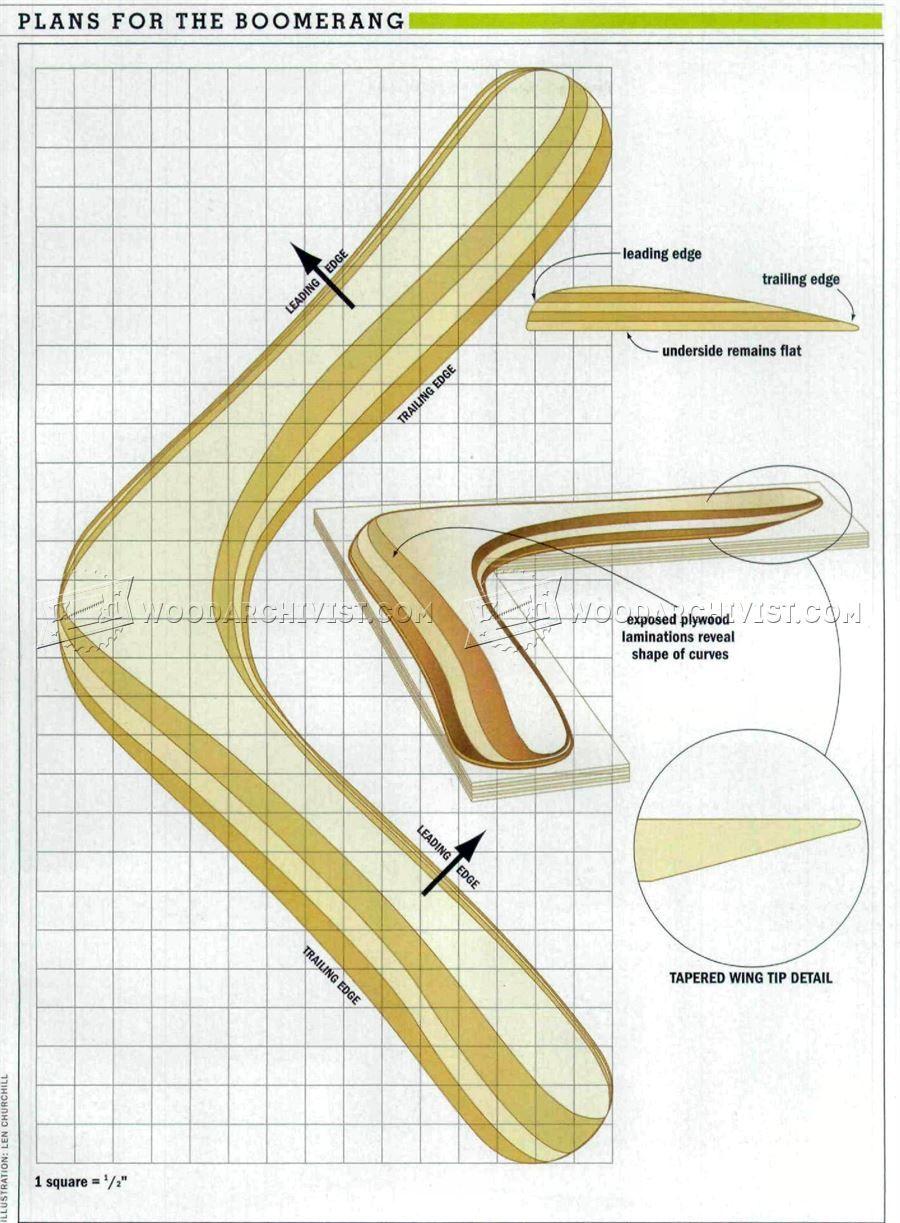 1972 make boomerang - wooden toy plans | wood craft