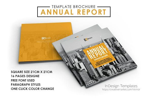 2017 Annual Report Brochure by Creative Template on - free annual report templates
