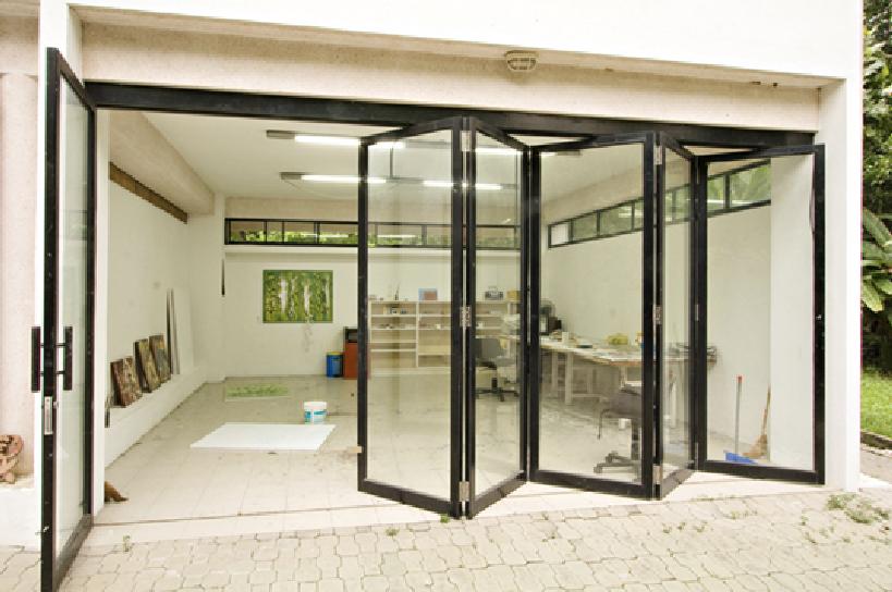 Folding Wall Of Windows Indoor Outdoor Mount Home