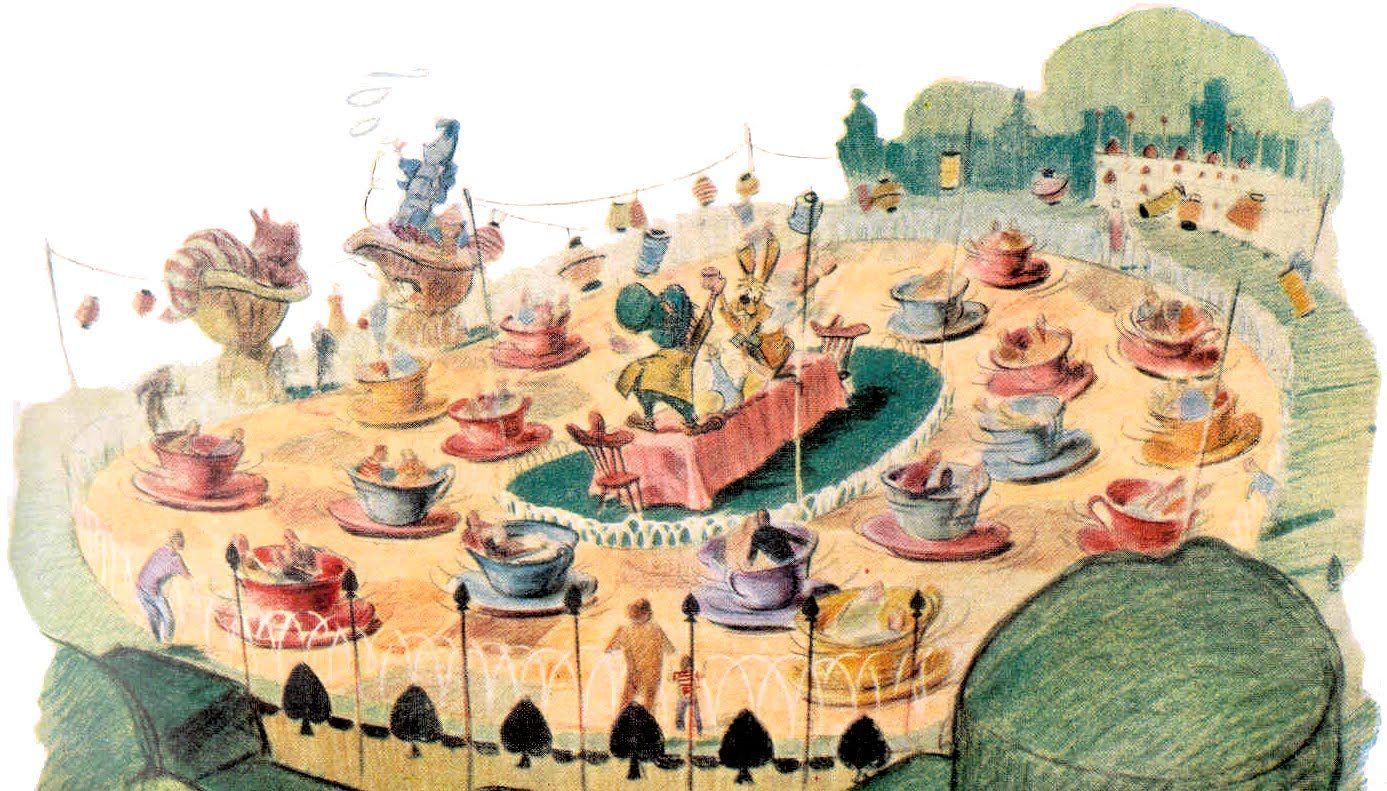 Disneyland Concept Art 1955