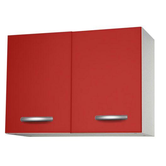 meuble de cuisine haut 2 portes rouge h57 x l80 x p35 cm cuisine meuble amenagement gris. Black Bedroom Furniture Sets. Home Design Ideas