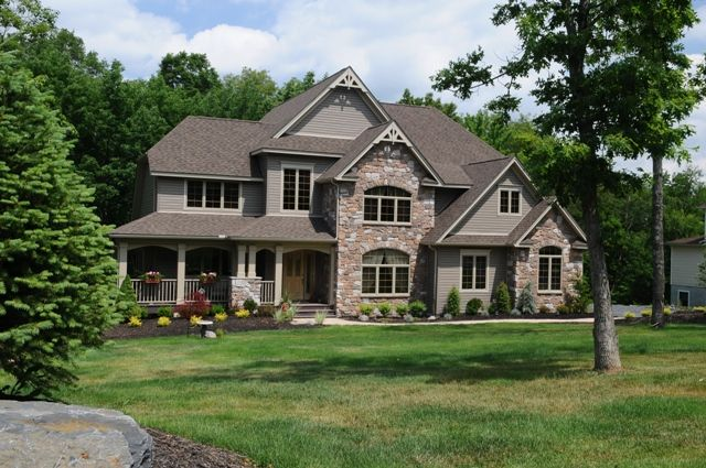 Brick Colors For House Exterior | ... Great Classical Custom Dream Homes  Constructions Stone