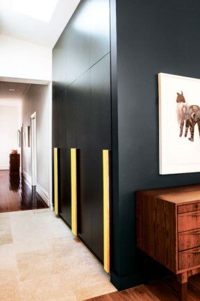 Dulux Domino Feature Wall Combined With The Warmth From A Timber