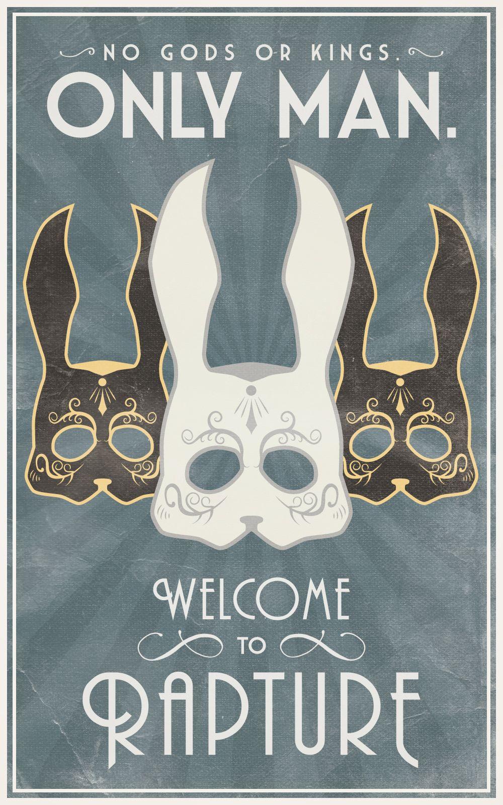 bioshock masquerade poster created by bianca baumann bioshock pinterest tattoo ideen. Black Bedroom Furniture Sets. Home Design Ideas