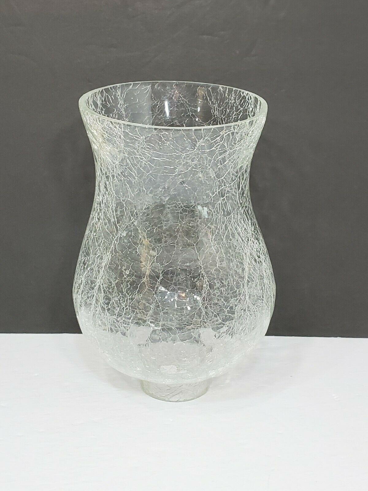 6 3 8 Crackle Glass Hurricane Chimney Candle Sconce Lamp Shade Globe Mcm 15 00 Glass Hurricane Candle Holder Milk Glass Candle Holder Candle Lampshade