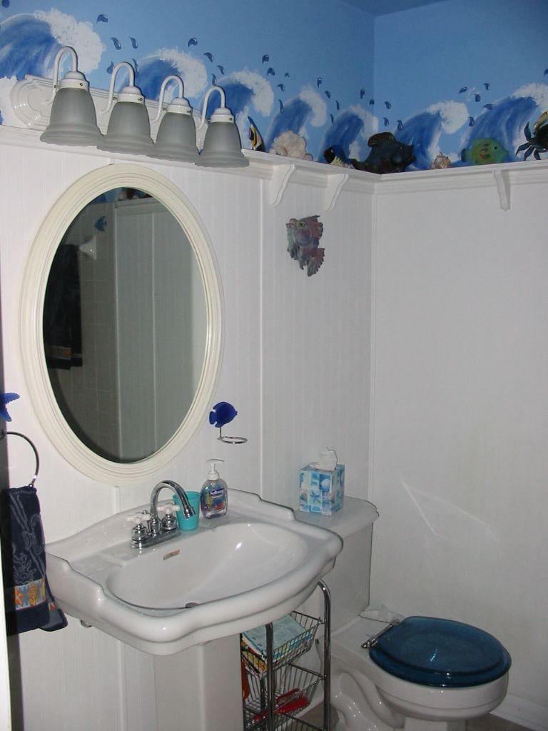 outstanding bathrooms ocean theme | fun ocean themed bathroom! | Ocean Theme Bathroom | Pinterest