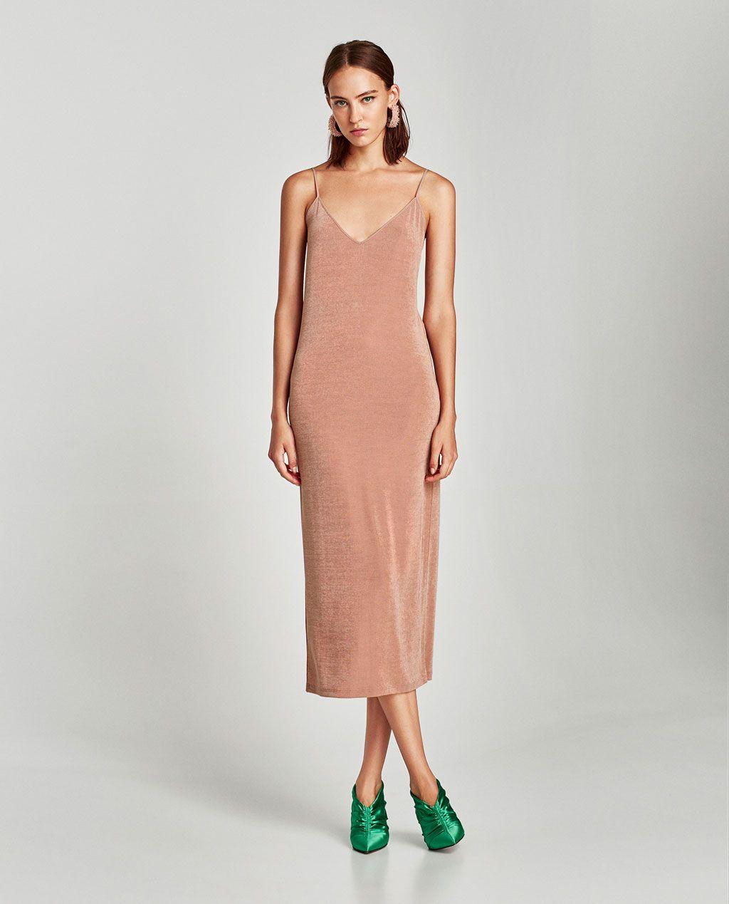 11c107f8d Imagen 1 de VESTIDO LARGO TIRANTES BRILLO de Zara   * Female Style ...