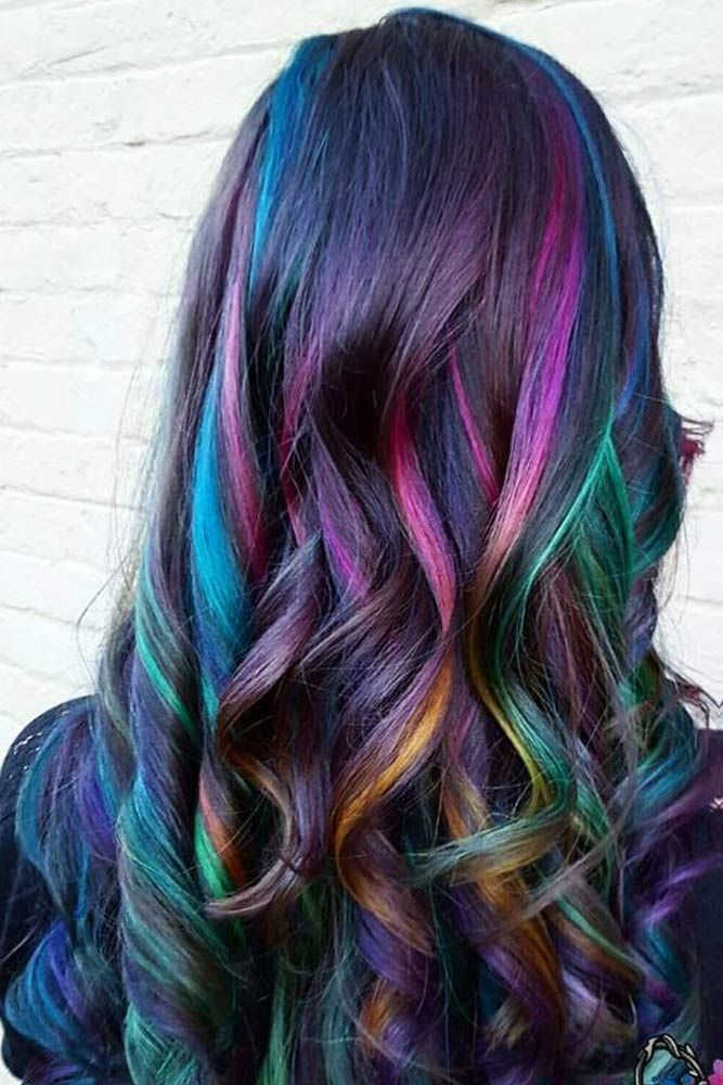50 Fabulous Rainbow Hair Color Ideas | Hair | Hair, Oil ...