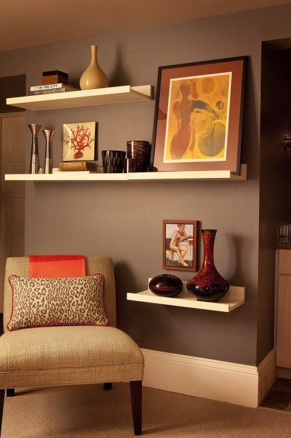 Floating Shelves Eclectic Living Room Contemporary Living Room Design Home Decor