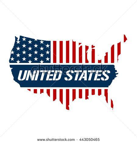 United States patriotic map graphic. Vector design illustration ...